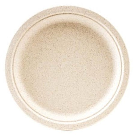 Green Wave International OV-P009 PE 9 in. Bagasse Ovation Round (New Wave Rectangular Plate)