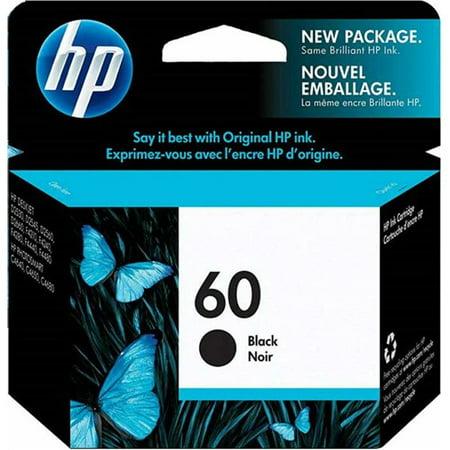 HP 60 Black Original Ink Cartridge (CC640WN)(Single Pack) ()