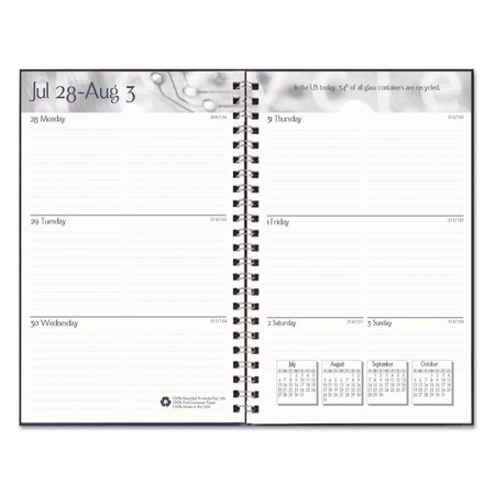 House of Doolittle Recycled Academic Weekly/Monthly Appointment Book/Planner, 5x8, Black, 2017-2018