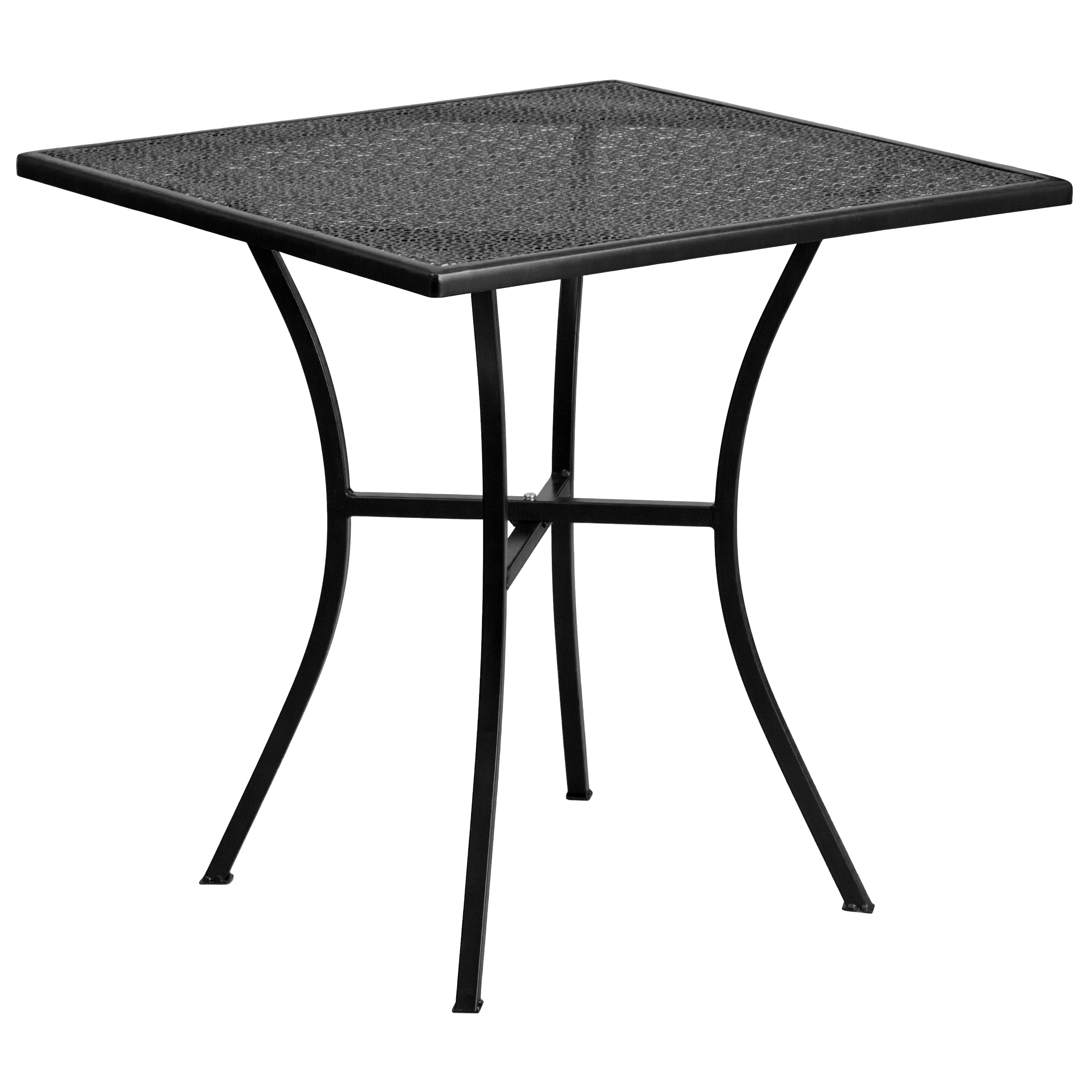 Flash Furniture 28'' Square Indoor-Outdoor Steel Patio Table, Multiple Colors