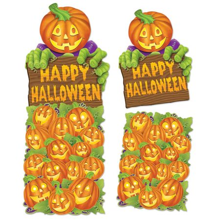 The Beistle Company Halloween Jumbo Pumpkin Patch Cutouts (Set of - Halloween Pumpkin Patch