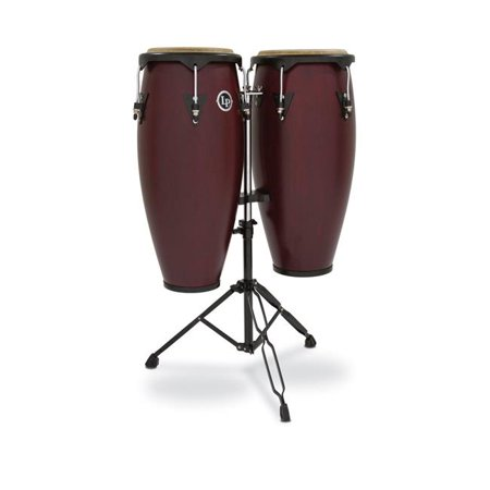 Latin Percussion Double Conga - Latin Percussion LP646NY-DW City 0.90 Conga Set, Dark Wood Double Standard
