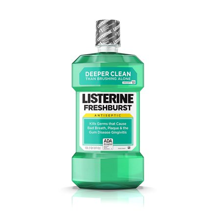 Freshburst Antiseptic Mouthwash Kills Bad Breath Germs, 1 L, Kills germs that cause bad breath, plaque, and gingivitis By (Best Mouthwash For Gingivitis And Bad Breath)