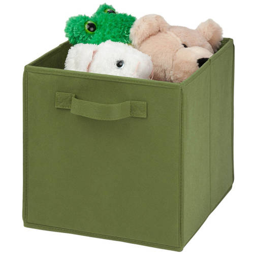 Honey Can Do Non-Woven Foldable Cube, Green