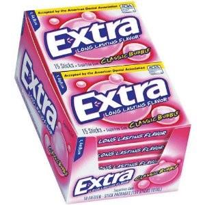 Extra Gum - Classic Bubble, 15 Count