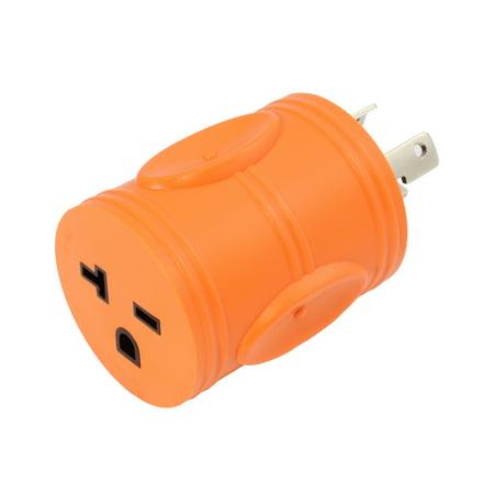 - AC WORKS [ADL630620] NEMA L6-30P 30Amp 250Volt Locking Plug to NEMA 6-15/20R 15/20Amp 250Volt Female Connector Adapter -