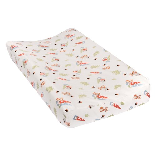 Harriet Bee Travers Forest Gnomes Deluxe Flannel Changing Pad Cover