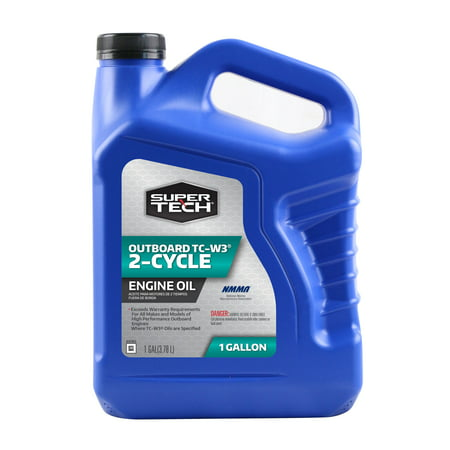 - Super Tech TC-W3 Outboard 2-Cycle Engine Oil, 1 Gallon