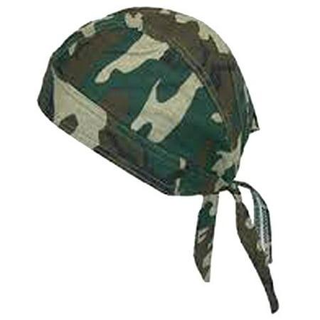 - Camouflage Doo Rag Skull Cap Camo Durag Bandana Woodland Headwrap