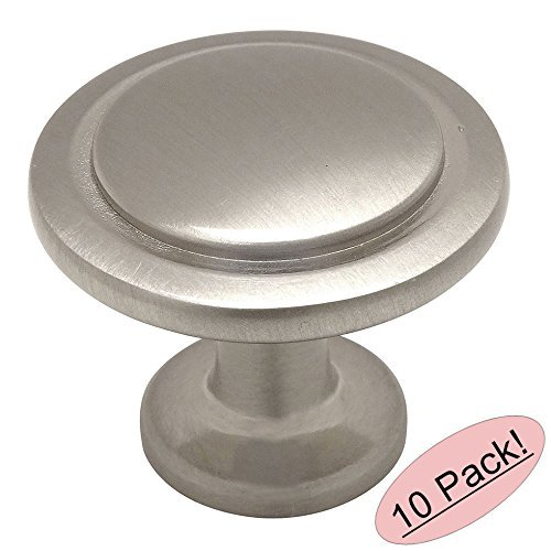 "Cosmas 5560SN Satin Nickel Cabinet Hardware Round Knob - 1-1/4"" Diameter - 10 Pack"
