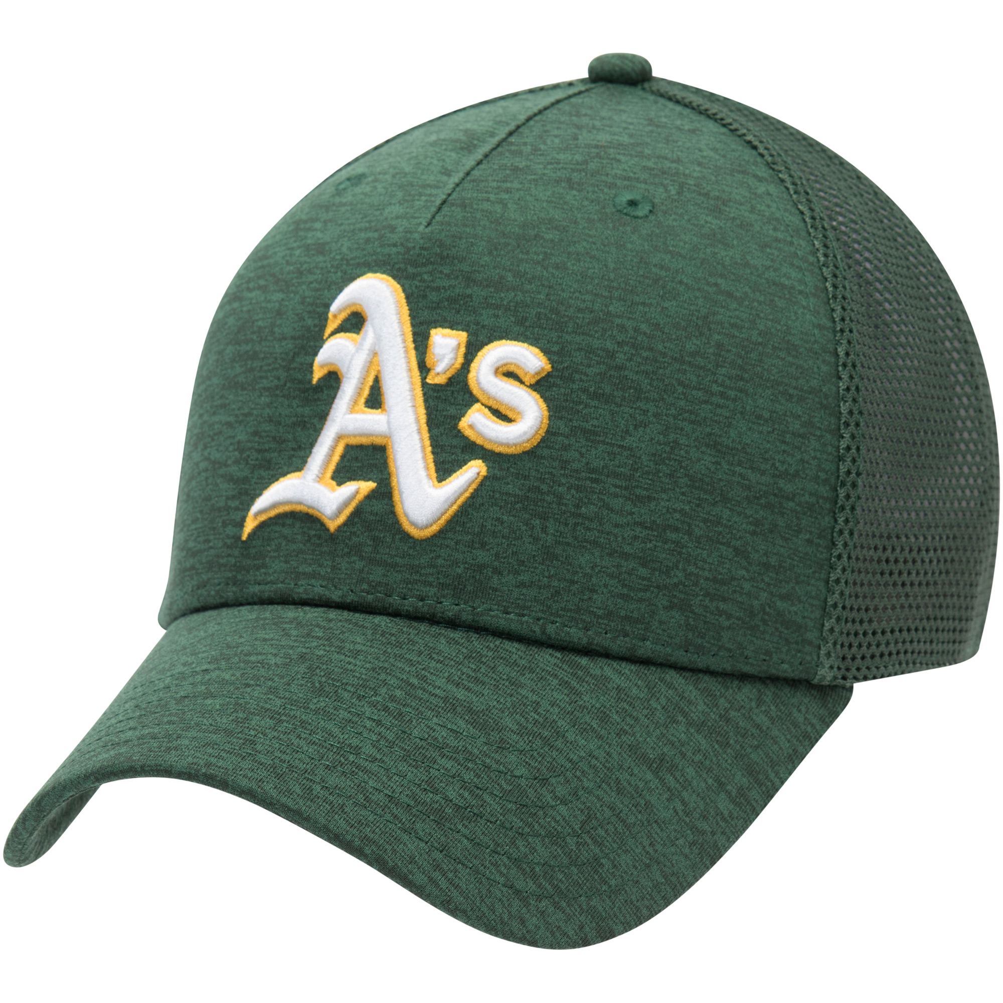 Oakland Athletics Under Armour Twist Closer Trucker Performance Adjustable Hat - Green - OSFA