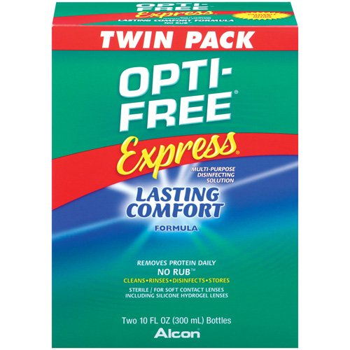ALCON OPTI-FREE EXPRESS Contact Lens Care Cleaning & Disinfecting Solution - 2x10 fl oz