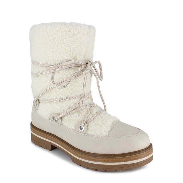 PORTLAND by Portland Boot Company Women's Shearling Lace Up Boot