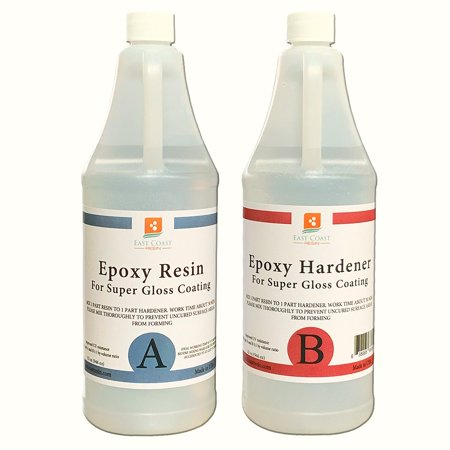 EPOXY RESIN  64 oz Kit. FOR SUPER GLOSS COATING AND