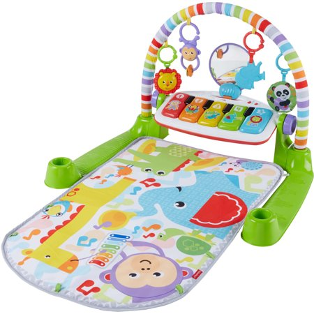 Fisher Price Tummy Time (Fisher-Price Deluxe Kick & Play Removable Piano Gym, Green )