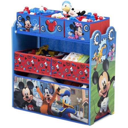 Childrens Toy Box - Disney Mickey Mouse Multi-Bin Toy Organizer by Delta Children