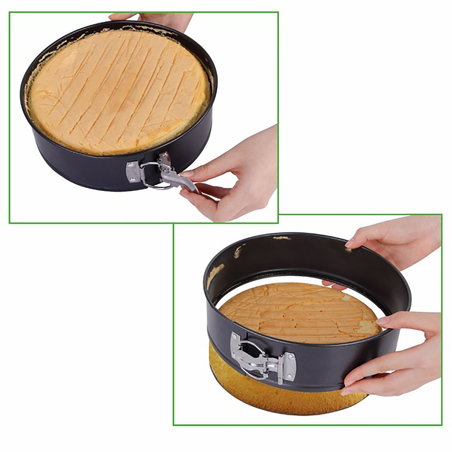 Cake Pans, Outgeek Stainless Steel Round Springform Round Non-stick Leakproof Baking Pans Cheesecake Pans... by Outgeek
