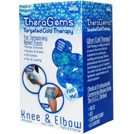 Elbow Pack (Cool Downz TheraGems Knee and Elbow Cold Therapy Freezable Pack, One Size, Blue )