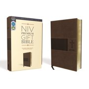 Niv, Premium Gift Bible, Leathersoft, Brown, Red Letter Edition, Comfort Print (Other)