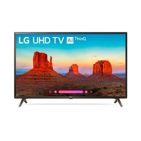 """Refurbished LG 43"""" Class 4K HDR Smart LED AI UHD TV w/ThinQ - 43UK6500AUA"""