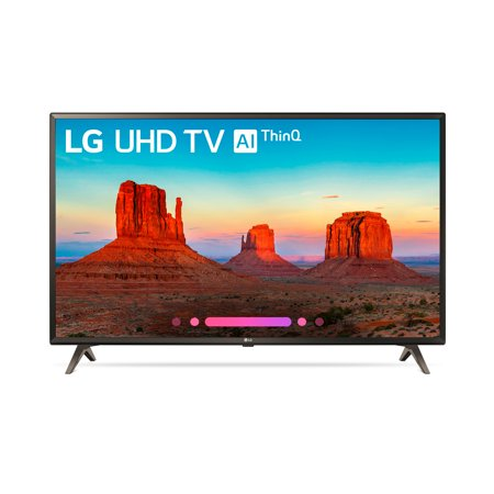 "Refurbished LG 43"" Class 4K HDR Smart LED AI UHD TV w/ThinQ - 43UK6500AUA"