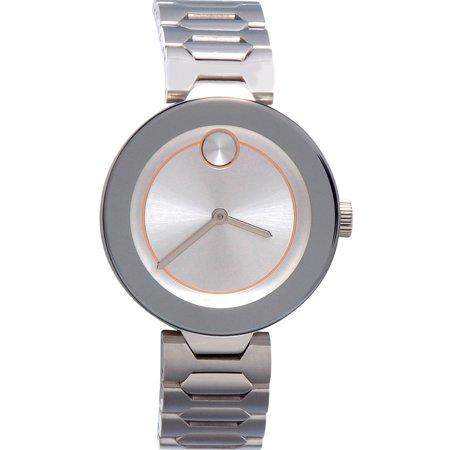 Movado - Women's Swiss Bold Stainless Steel Bracelet Watch 32mm 3600381 - Walmart.com