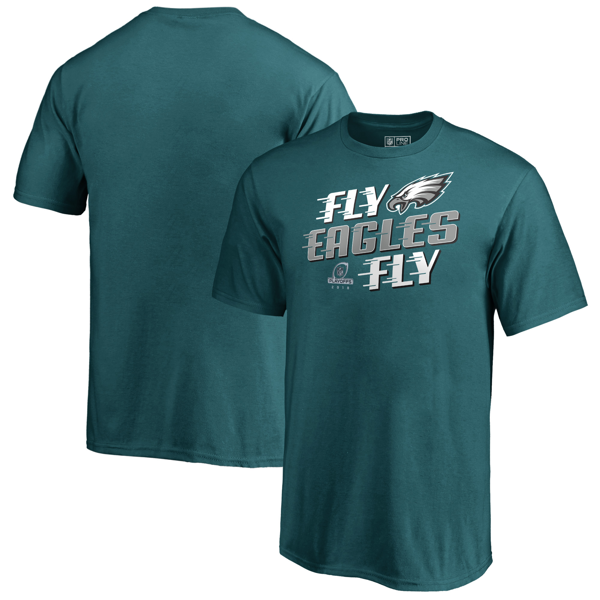 Philadelphia Eagles NFL Pro Line by Fanatics Branded Youth 2018 NFL Playoffs Bound Hometown T-Shirt - Green
