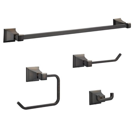Design House 188623 Torino 4-Piece Bathroom Accessory Kit, Brushed Bronze