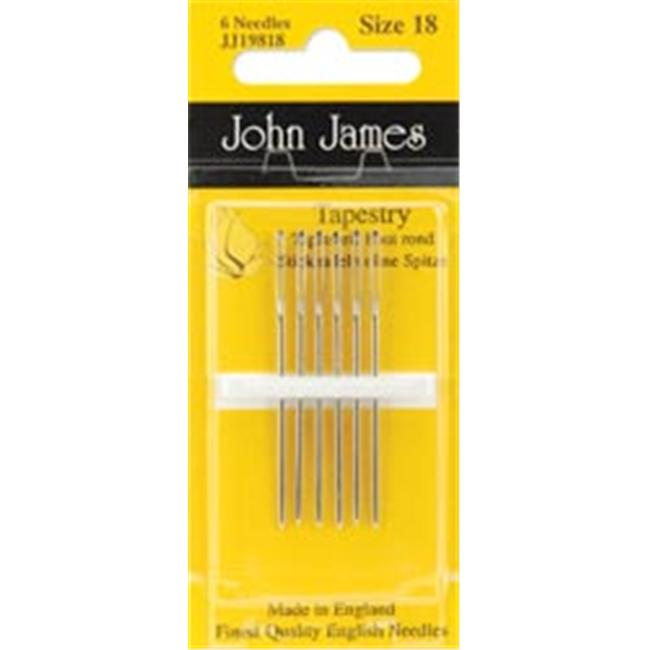 6//Pkg Colonial Needle JJ198-26 Tapestry Hand Needles-Size 26