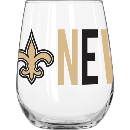 NFL New Orleans Saints 16 oz. Overtime Curved Beverage - New Orleans Saints Glass