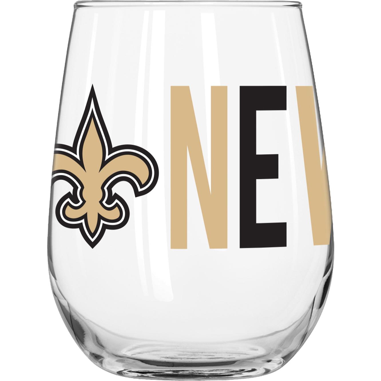 NFL New Orleans Saints 16 oz. Overtime Curved Beverage Glass