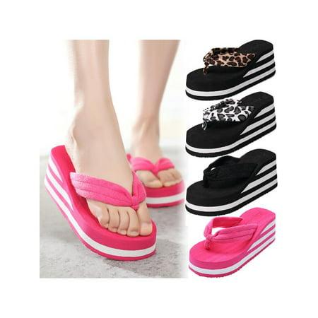 982a93e6627e Meigar - Meigar Summer Wedge Platform Thong Flip Flops For Women Sandals  Shoe Beach Casual Slippers - Walmart.com