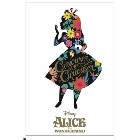 Alice In Wonderland Silhouette Poster Poster Print - Alice In Wonderland Decor
