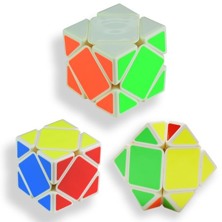 3x3 3D Speed Magic Rubik Cube game Intelligence Brain Teasers Irregular  Shapes White Base Puzzles Educational Special Toys SQ-1 Develop Brain And