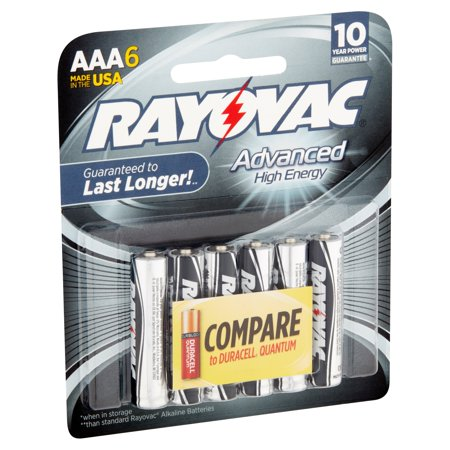 Rayovac Advanced High Energy Aaa 1 5v Alkaline Batteries