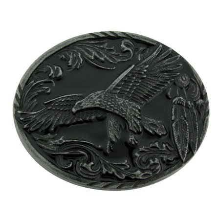 Eagle Belt Buckle Texas US Style Rodeo Western Fashion Metal Black Oval Finished