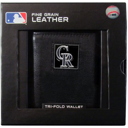 Colorado Rockies Official MLB Leather Tri-fold Wallet by Siskiyou 991233 by