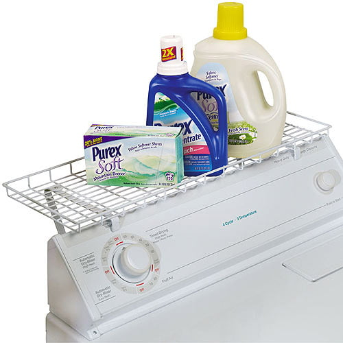 Household Essentials Laundry Shelf For Over Washer Or Dryer White Walmart Com Walmart Com