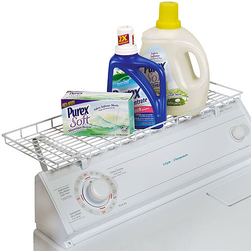 Household Essentials Laundry Shelf for Over Washer or Dryer, White