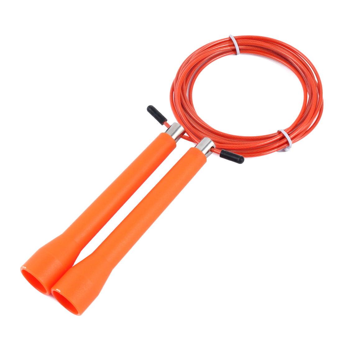 LeTEK Authorized Outdoor Workout Skipping Jump Rope Orange