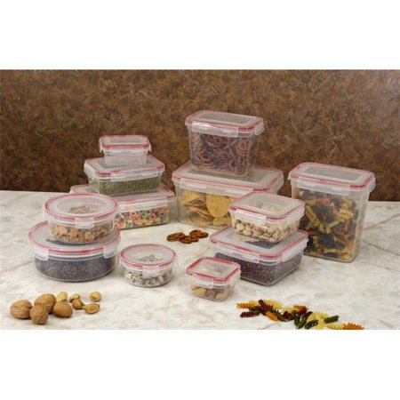 Storage Containers 24 Piece Set Lock and Seal Lids