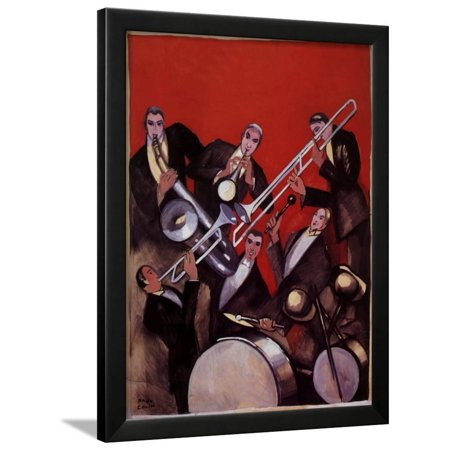 Kings of Jazz Ensemble, 1925 Framed Print Wall Art By Paul Colin