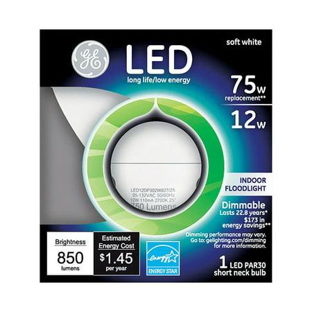 G E Lighting 96843 LED Bulb, PAR 30, Short Neck, 12-Watt