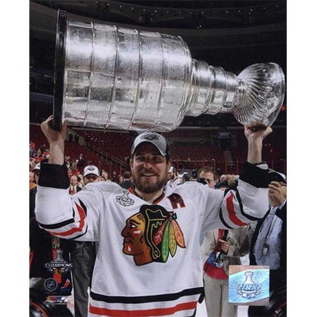 Patrick Sharp with the 2009-10 Stanley Cup- 28 Sports Photo - 8 x 10 - image 1 of 1
