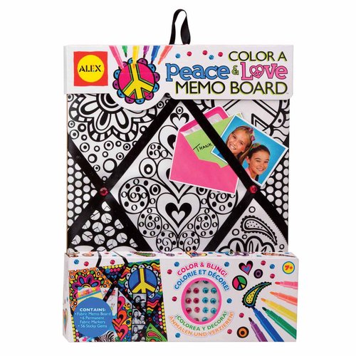 ALEX Toys Color a Bag and Accessories Color A Memo Board, Peace and Love