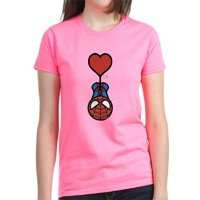 CafePress - Spider Man Heart Women's Classic T Shirt - Women's Dark T-Shirt