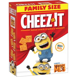 Cheez-It Baked Snack Crackers Despicable Me 3 Family Size 21 oz