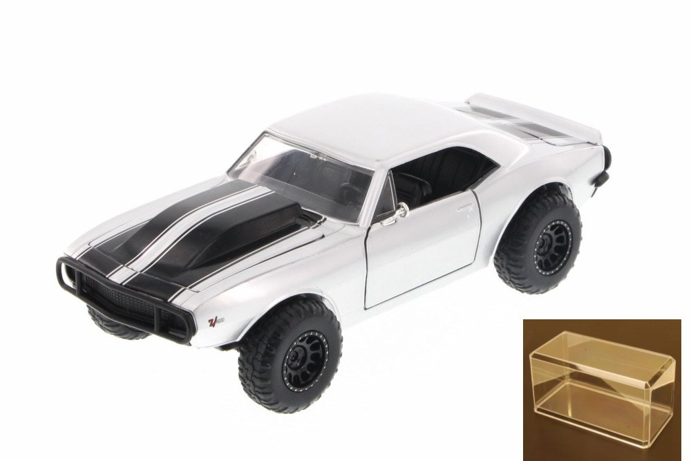 Diecast Car & Accessory Package Fast & Furious Roman's Chevy Camaro Off Road, Silver Jada... by Jada