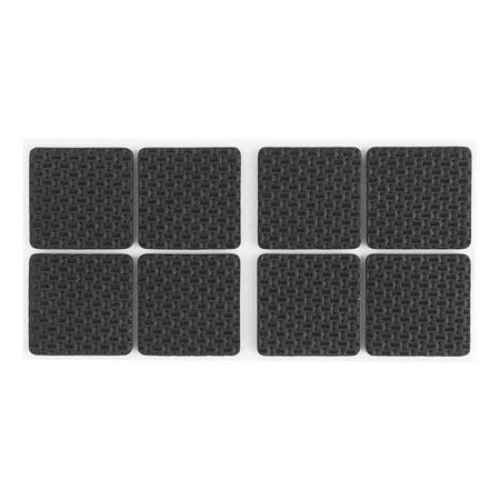 8 Pieces Black Floor Furniture Guard Anti Slip Skid Pads Protector 38mmx38mmx4mm