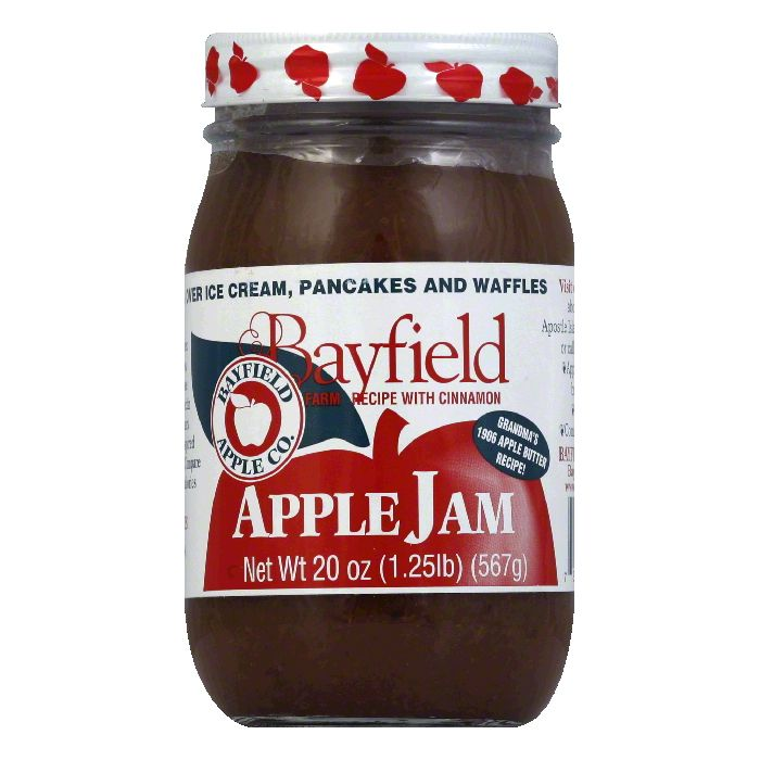 Bayfield Apple Jam, 20 OZ (Pack of 12) by